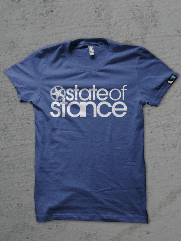 Image of State of Stance Logo | Mens Tee Blue - *Preorder*