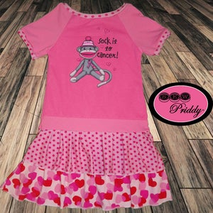 Image of **SOLD OUT** Sock it to Cancer Custom Dress for Toni - Size 12