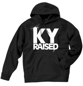 Image of KY Raised Black / White Hooded Sweatshirt