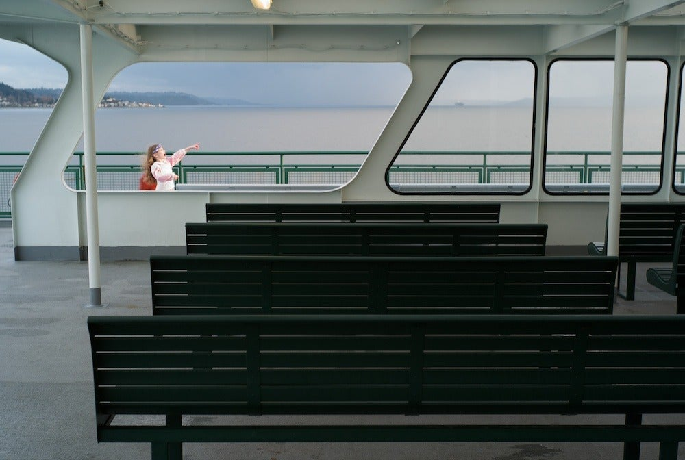 Girl on a Ferry