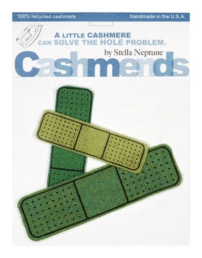 Image of Iron-On Cashmere Band-Aids - Triple Green
