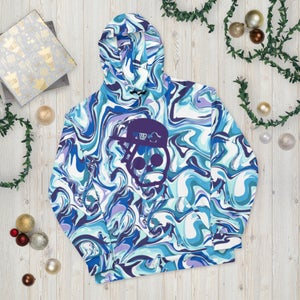 Image of Marble Skull In A Fitted Unisex Hoodie