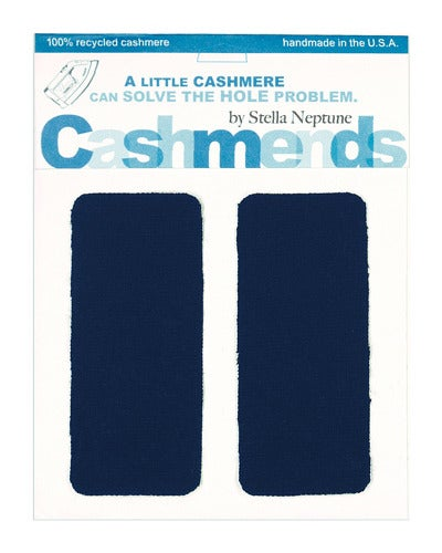 Image of Iron-on Cashmere Elbow Patches  - Dark Navy