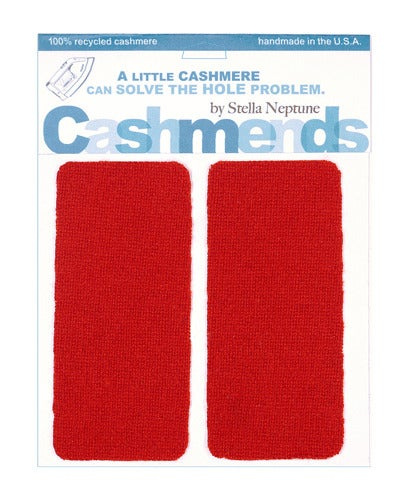 Image of Iron-On Cashmere Elbow Patches - CLASSIC RED