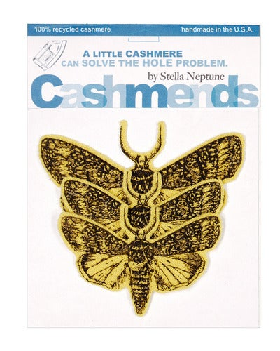 Image of Iron-on Cashmere Moths - Bright Yellow