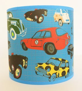 Image of 8inch Multi Classic/Vintage Cars Tube Shade