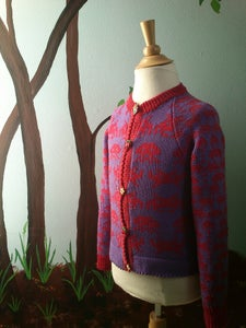 Image of Purple Space Invaders Cardigan