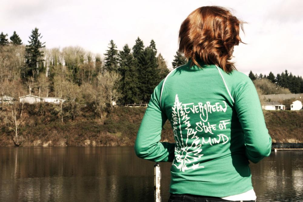 Image of Evergreen State Of Mind Track Jacket (Unisex)