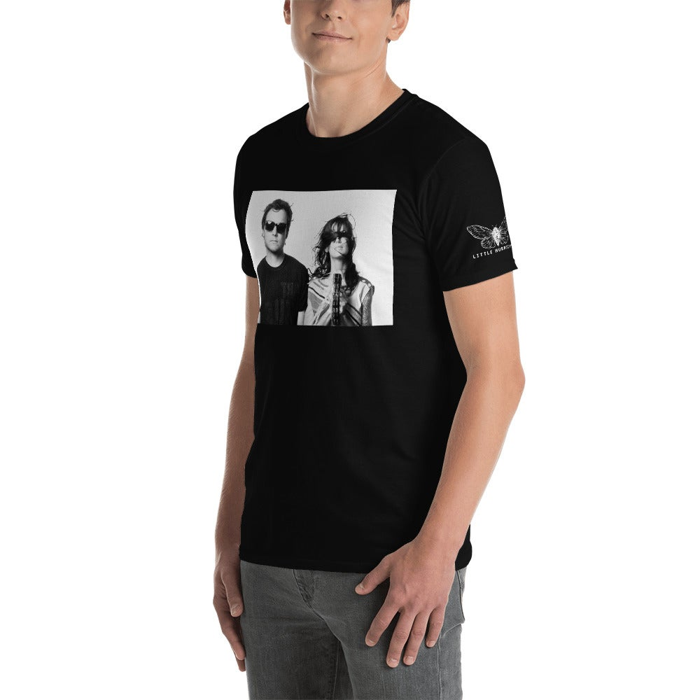 Image of Short-Sleeve Unisex T-Shirt tone/cc with moth sleeve