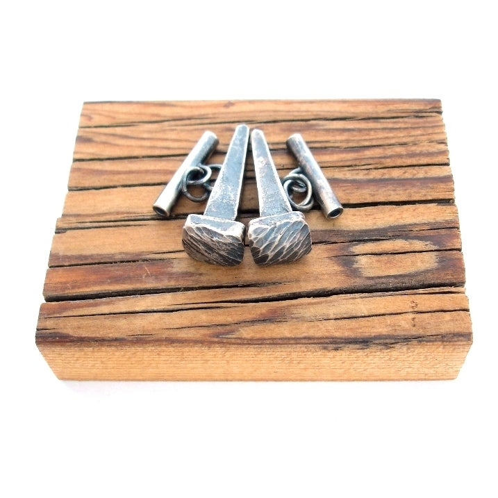 Image of Silver Nail Cufflinks