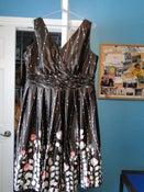 Image of Dress Barn Brown + Fancy Dress – Size 16W