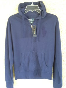 Image of Polo Ralph Lauren Mesh Full-Zip Hoodie Navy