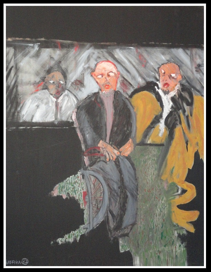 Image of Original Expressionist Painting by Michael Hafftka - Three Associates