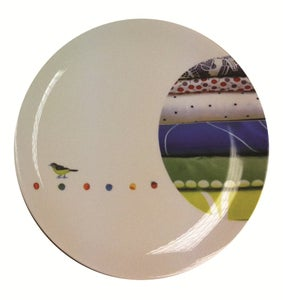 Image of fabric Bird Plate