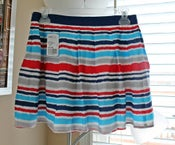 Image of Forever 21 Multicolor Striped Pleated Skirt, Size M