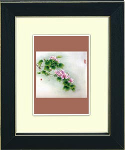 Image of framed print of Chinese Painting on canvas - Spring