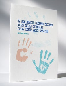 Image of Printable Card with Handprints