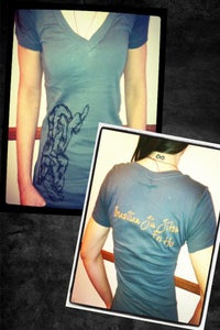 Image of Caught By a Triangle V- neck Shirt - LIMITED EDITION