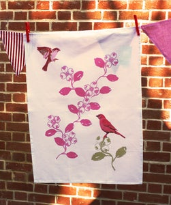 Image of Birds & Blooms Tea Towel