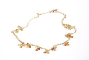 Image of Orange and Yellow Sapphire Necklace