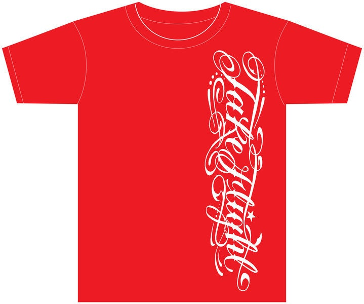 Image of TF Script Tee (Red)
