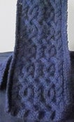 Image of Merino Wool Celtic Cable Navy Scarf