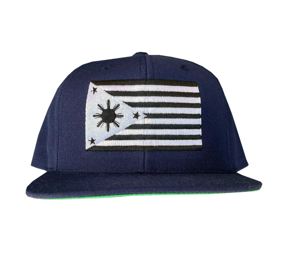 Image of Navy blue-filam-flag