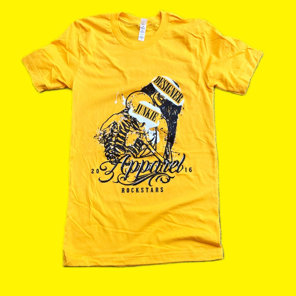 Image of Rockstars In Love Tee ( Athletic Gold )