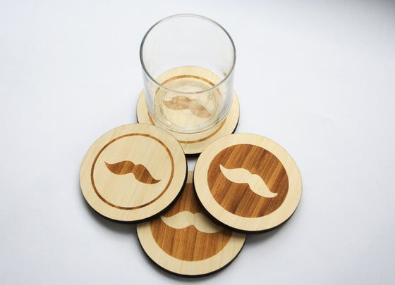Image of Hipster Collection Coasters: The Moustache