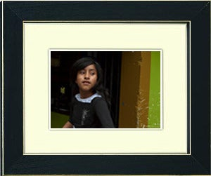 Image of framed print of original photograph - inca girl