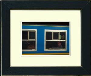 Image of framed print of original photograph - train to machu picchu