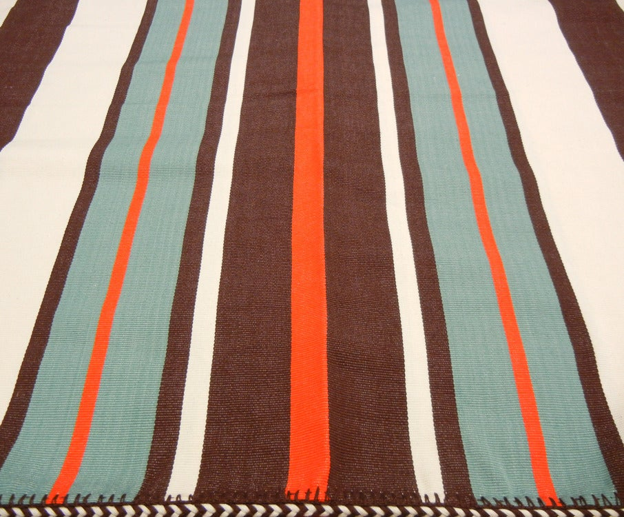 Image of MAYA CHIEF BLANKET poppy | turquoise (2012)
