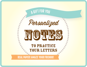Image of gift certificate for personalized stationery