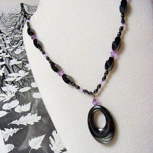 Image of Black Licorice Swarovski Necklace