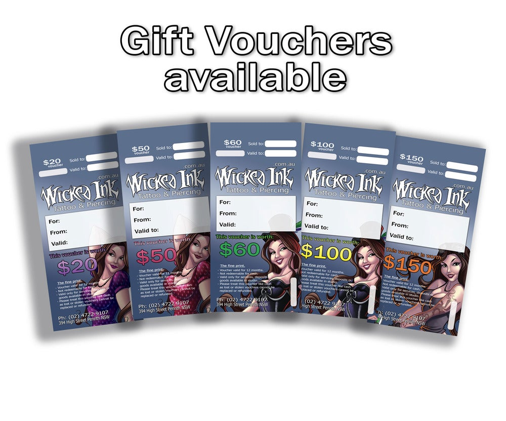 Image of $60 Gift Vouchers
