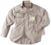 Image of Multi-pocket FISHING SHIRT (Stone)