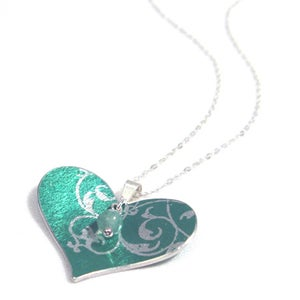 Image of Rococo Small Heart Necklace