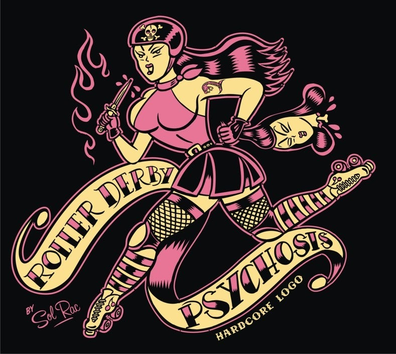 Image of Roller Derby Psychosis - Ladies T-Shirt
