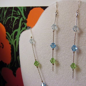 Image of Ocean Breeze Swarovski Earrings