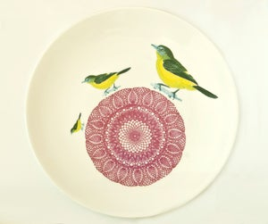 Image of Bird Doilie Plate