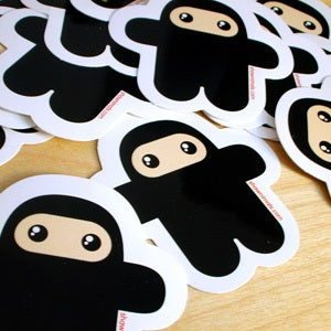 Image of WEE NINJA 5 Stickers pack (5 pieces)