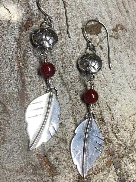 Image of Sunflower Leaf Earrings