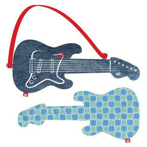 "Image of electric guitar ""blue dot"""