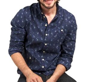Image of floral pattern work shirt