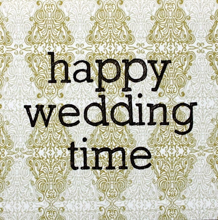 Image of happy wedding time