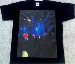 Image of Dub Police Limited Live Black/Blue Photo Logo Mens T-Shirt