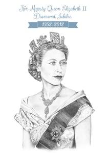 Image of Queen Elizabeth Diamond Jubilee Giclée Print