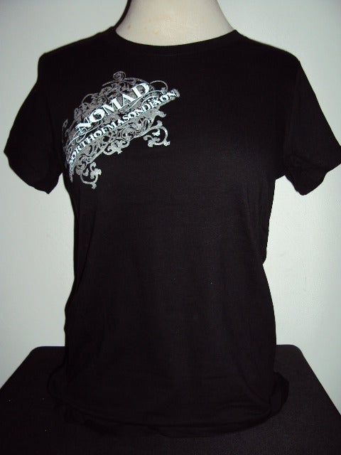 Image of NOMaD Ladies INKed Logo Black T-Shirt