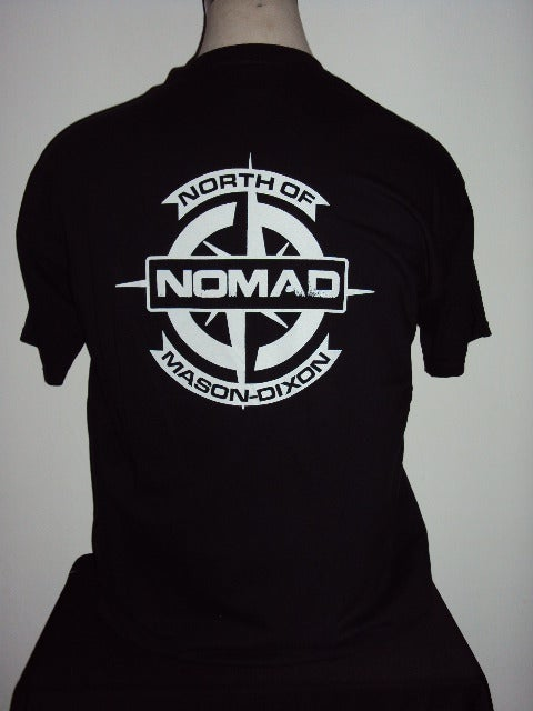 Image of NOMaD Compass Logo Black T-shirt
