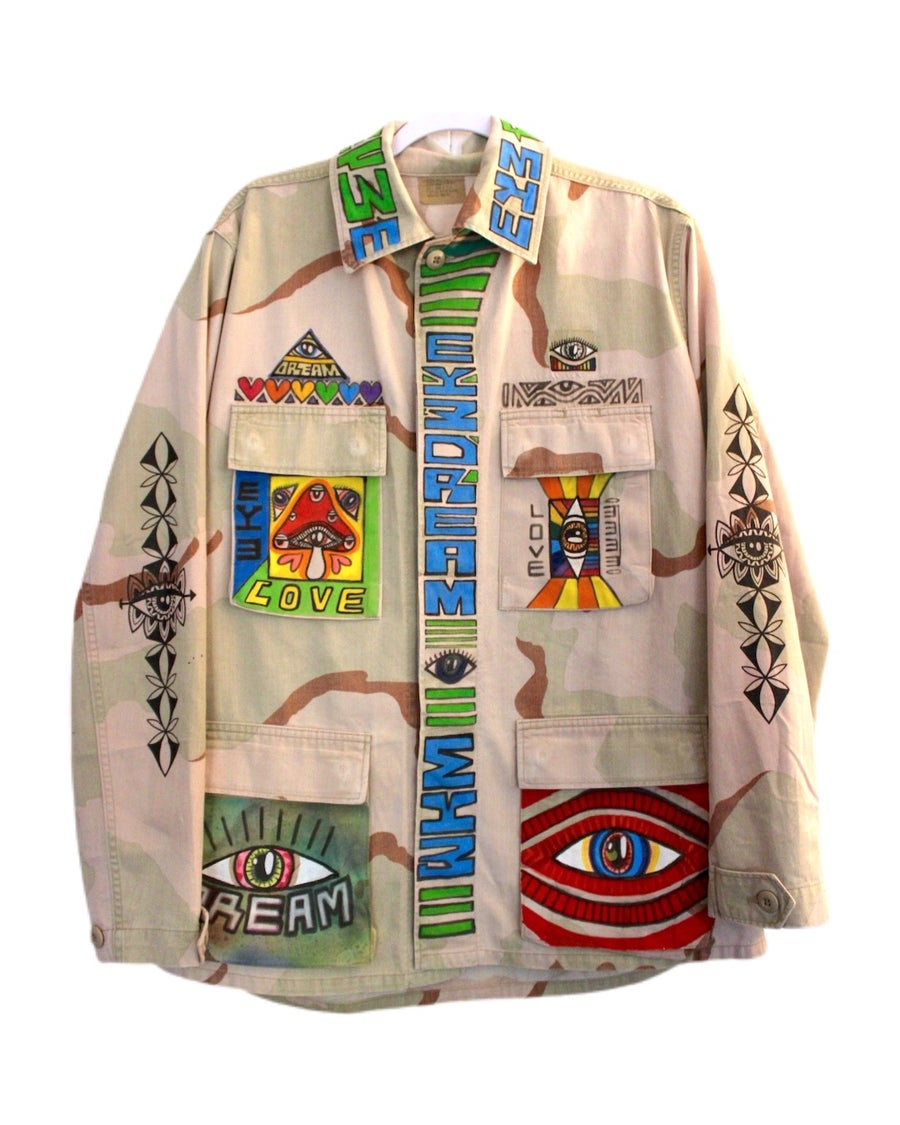 """Image of """"STOP WARS"""" Button Up Jacket"""